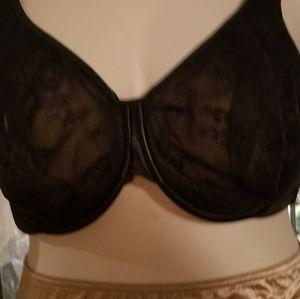 44DD sexy lace black bra